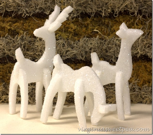 How to Make Sparkly Reindeer out of Styrofoam