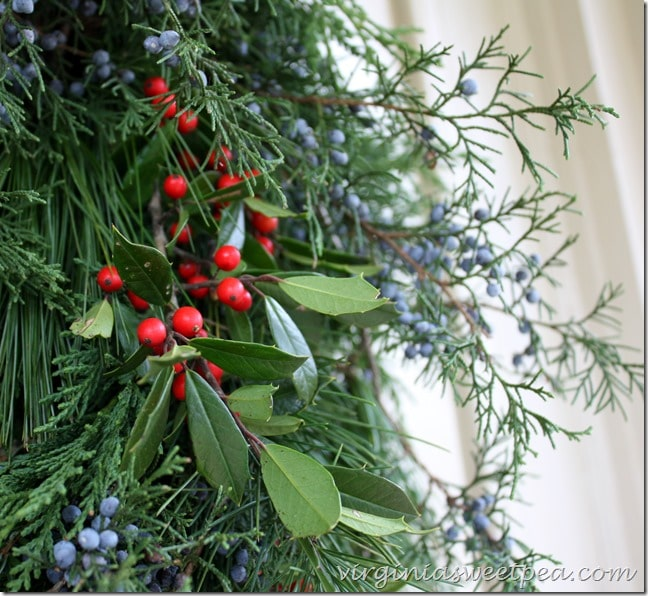 Holly and Cedar in a Beautiful Southern-Style Christmas Wreath