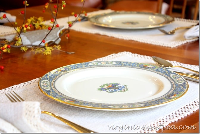 Lennox Autumn China on a Thanksgiving Table