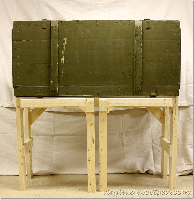 Russian Rifle Storage Crate Repurposed into a DIY Work Bench