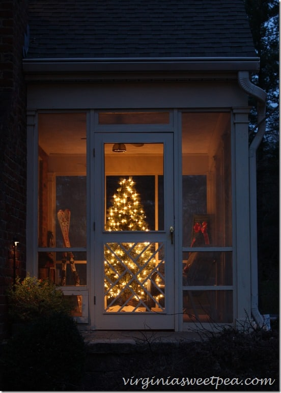 Side Porch Decorated for Christmas 2015