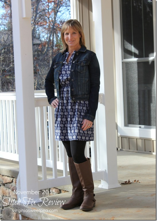 Stitch Fix Review - November 2015 - Just USA Anjuli Dark Wash Denim Jacket