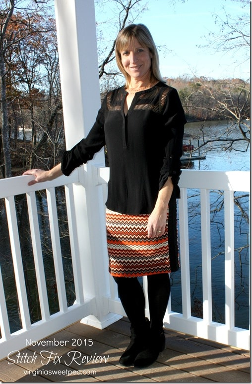 Stitch Fix Review - November 2015 - Market and Spruce Lilly Printed Pencil Skirt - Love this skirt's fun chevron print!