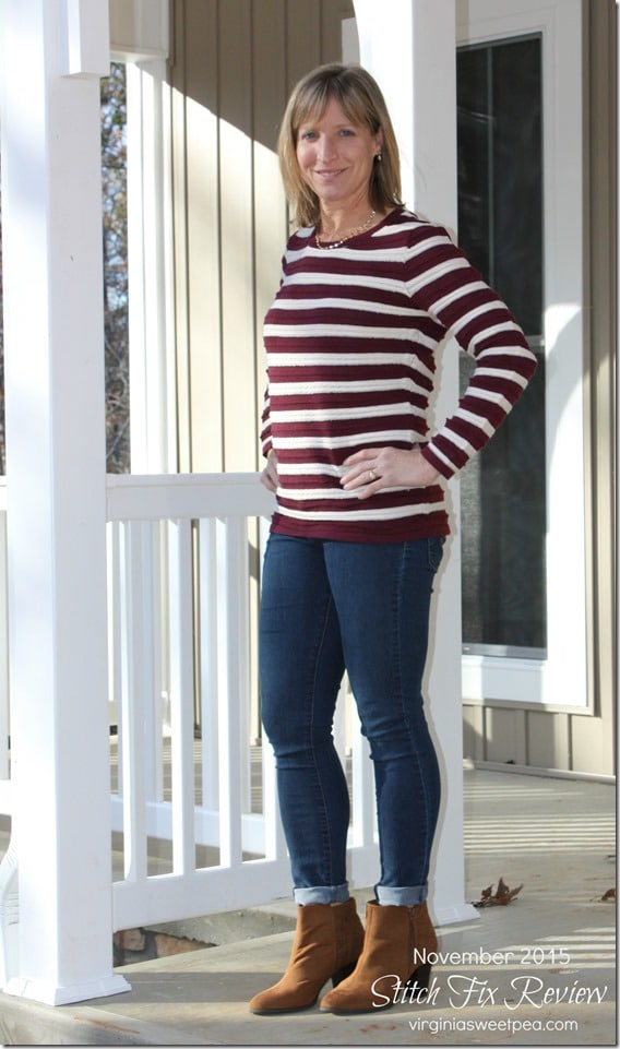 Stitch Fix Review - November 2015 - Skies are Blue Corby Pullover Sweater