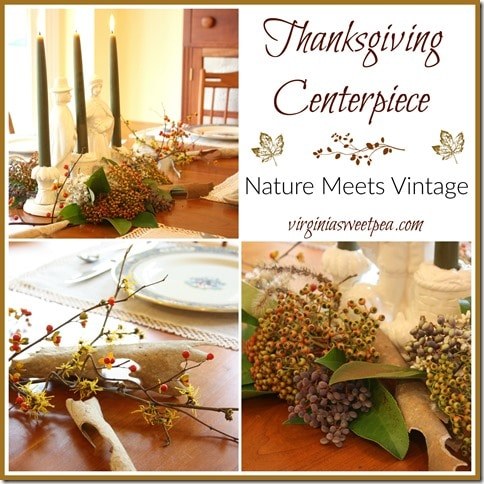 Thanksgiving Centerpiece - Nature Meets Vintage - virginiasweetpea.com