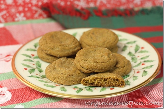 Gingersnap Cookies for Christmas- So good and always a hit at parties. virginiasweetpea.com
