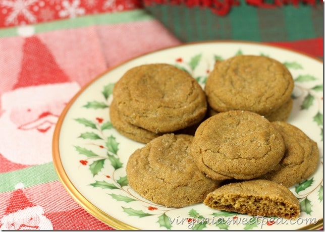 Gingersnap Cookies - This is a great recipe! virginiasweetpea.com