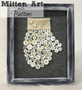 DIY Mitten Art with Buttons - Make this craft with either new or vintage buttons.