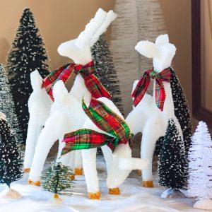 Christmas reindeer craft using styrofoam