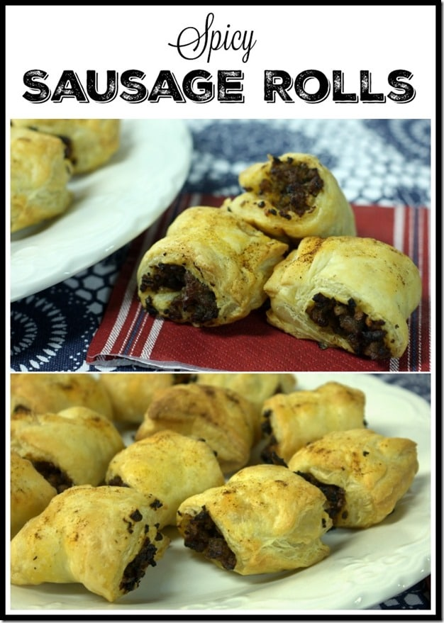 Spicy Sausage Rolls - A Great Appetizer - Easy to Make and a Crowd Pleaser