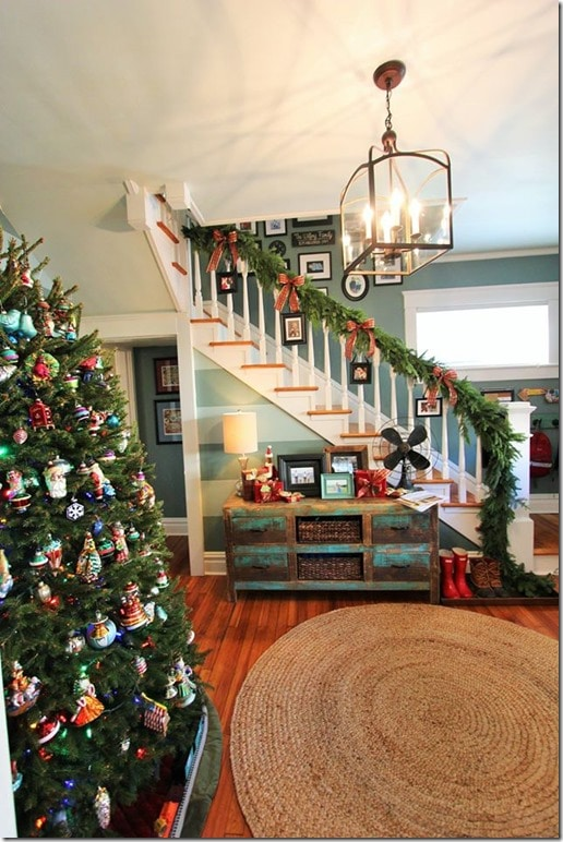 Christmas Home Tour  Modern Living in a 100 Year Old Home  This home retains its charm while being completely livable for a family with two young boys.