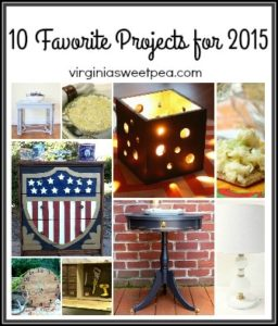 These are 10 of my favorite projects for 2015. Eight are DIY projects and two are recipes.