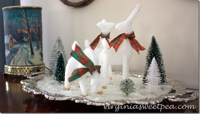 Reindeer made from styrofoam