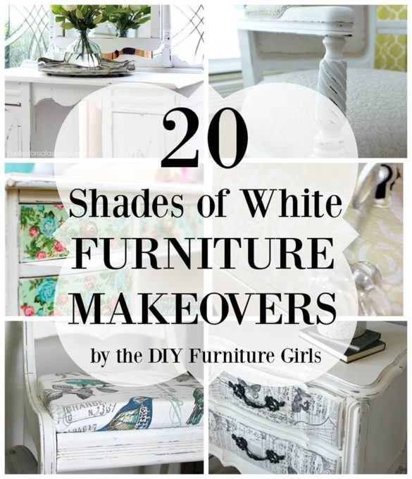 20 Shades of White Furniture Makeovers