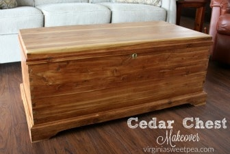 Cedar Chest Makeover - A handmade cedar chest gets a makeover without the use of paint.