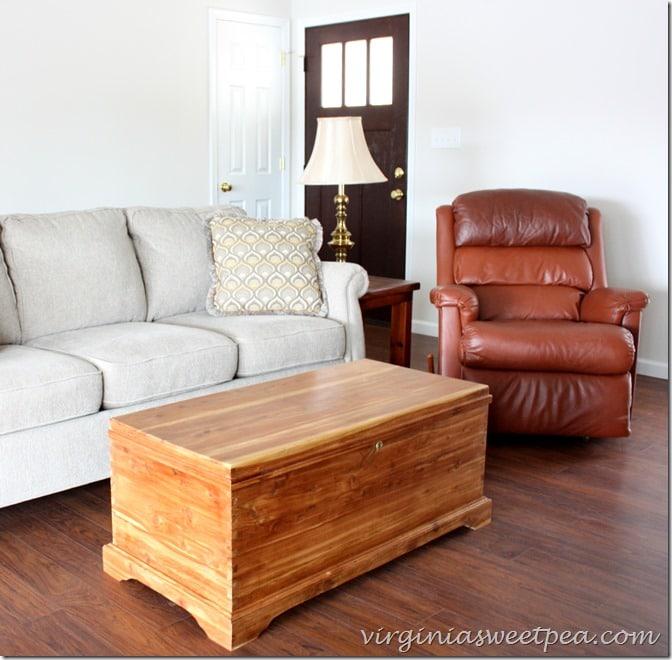 Cedar Chest Makeover - A handmade cedar chest gets refreshed.