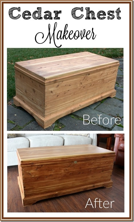 Cedar Chest Makeover - This handmade cedar chest got repaired and refreshed without the use of paint.