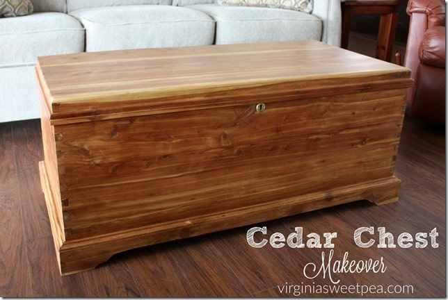 cedar chest makeover this proves that not ever piece of furniture has to be painted