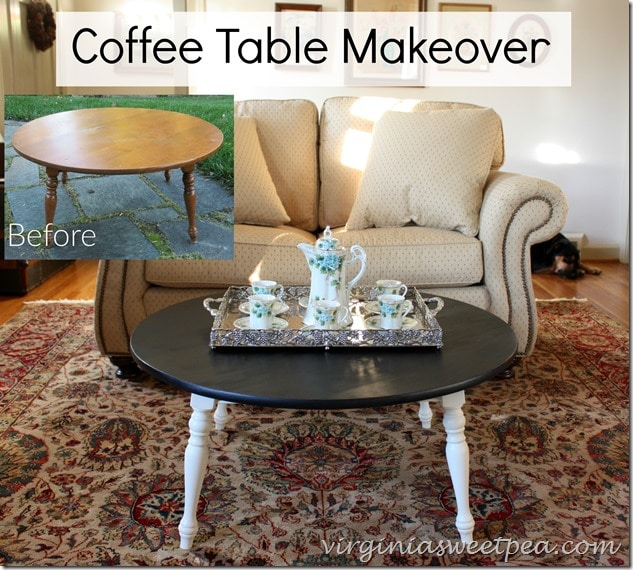 Coffee Table Makeover - Before and After