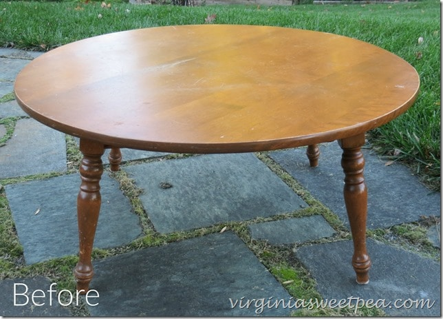 coffee table makeover – themed furniture makeover day - sweet pea