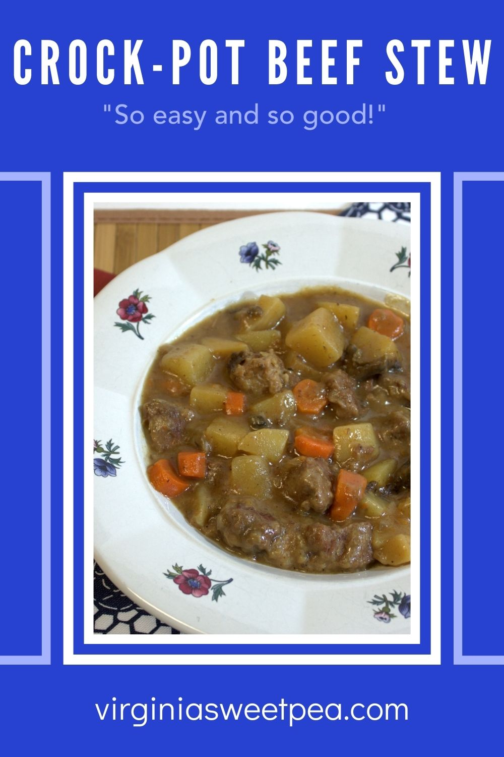 Using a crock-pot is a great way to make beef stew.  Prep the ingredients, pop them in the crock-pot, and when you get home from work, dinner is ready to serve.  Crock-pot beef stew is a regular winter dinner at my house. via @spaula