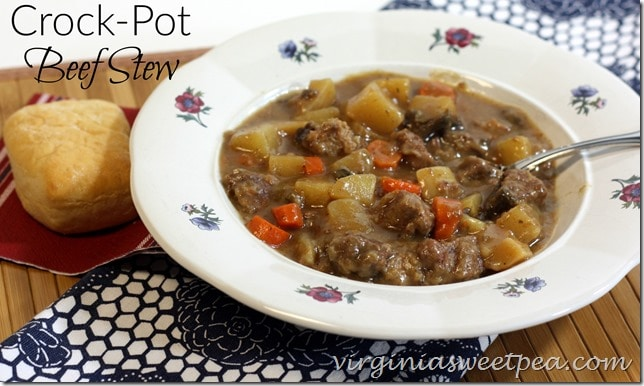 Crock-Pot Beef Stew - This stew is so tasty and easy to prepare. virginiasweetpea.com