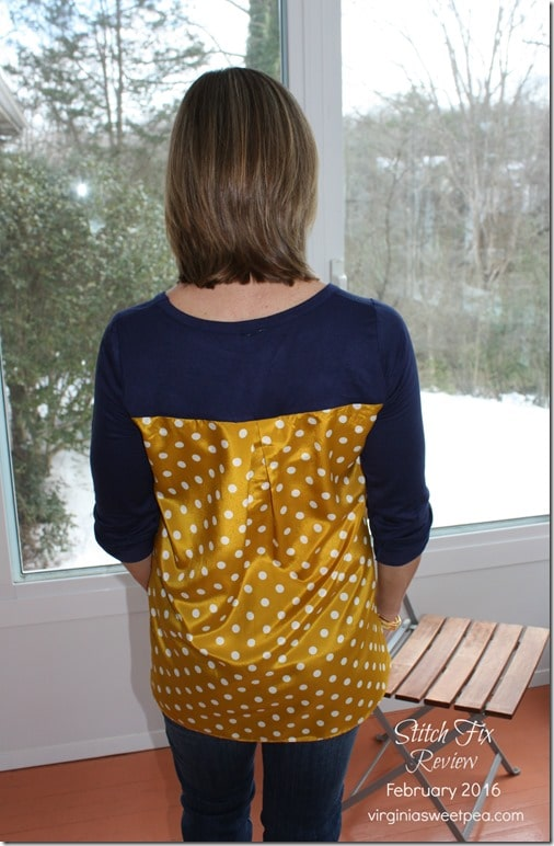 February 2016 Stitch Fix Review - Pixley Dido Mixed Print Knit Top - virginiasweetpea.com