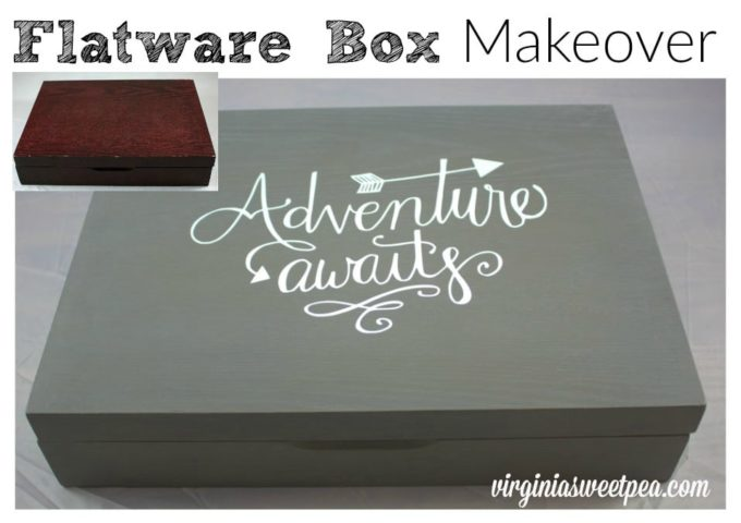 Flatware Box Makeover - Instead of holding silverware, this box can now store most anything.
