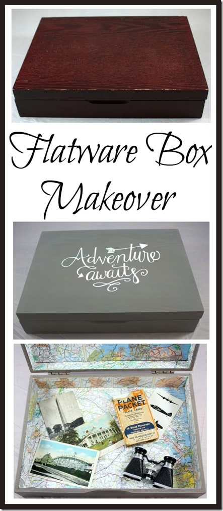 Flatware Box Makeover - A thrifted flatware box gets a new look. virginiasweetpea.com