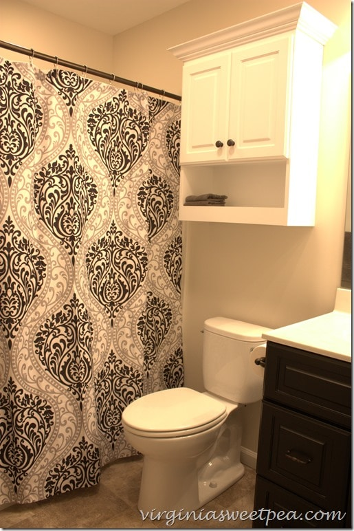 Hall Bathroom at SML - Shower curtain is the Chelsea Paisley Print Microfiber from Target.