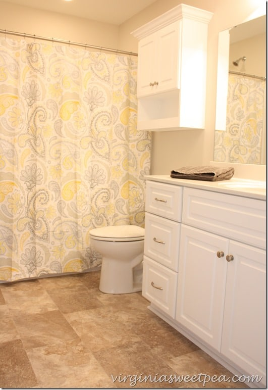 Master Bath at SML - Shower curtain is the Kassatex Paisely from Target