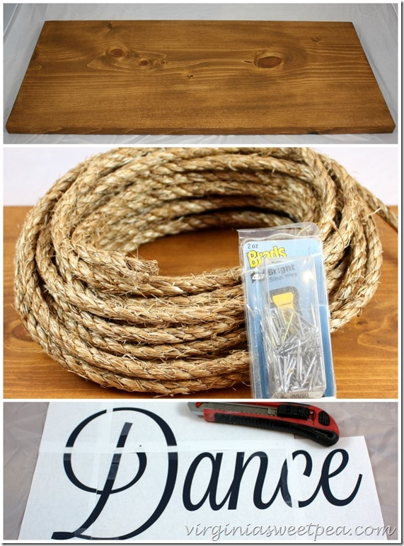 Materials for DIY Rope Word Art