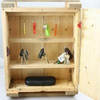 DIY Wood Crate Key Organizer