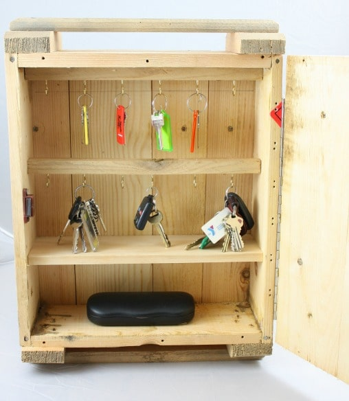 Rustic Key Organizer Made from a Russian Ammunition Crate