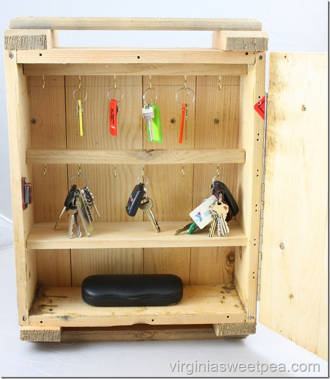 Rustic Key Organizer Upcycle - It's made from a Russian ammunition crate!