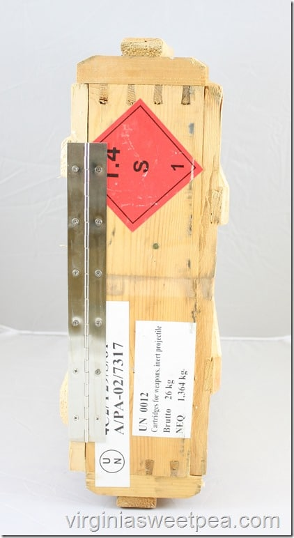 Rustic Wooden Key Organizer Made from a Russian Ammunition Crate - Get the tutorial at virginiasweetpea.com