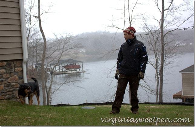 Sherman Skulina Ready to Walk at Smith Mountain Lake