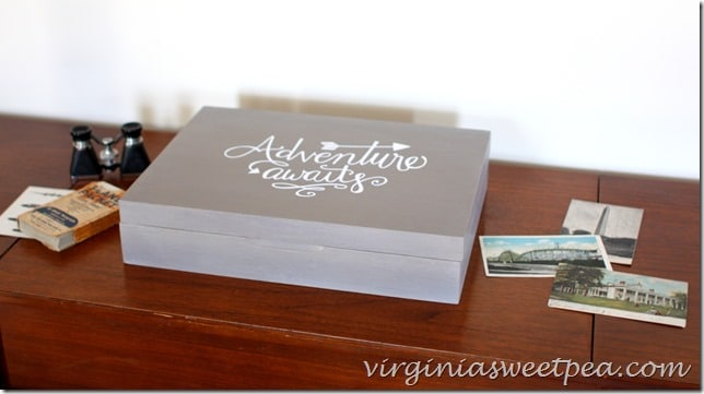 Silverware Box Makeover on Vintage Stereo