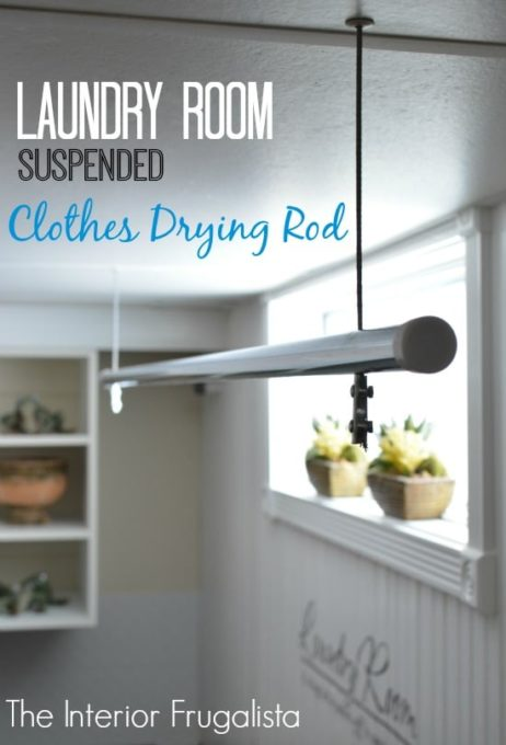 DIY Laundry Room Drying Rack