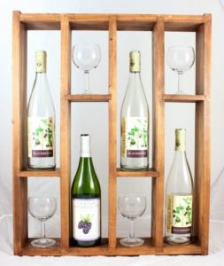Learn how to make a DIY wine rack that displays both wine bottles and glasses.