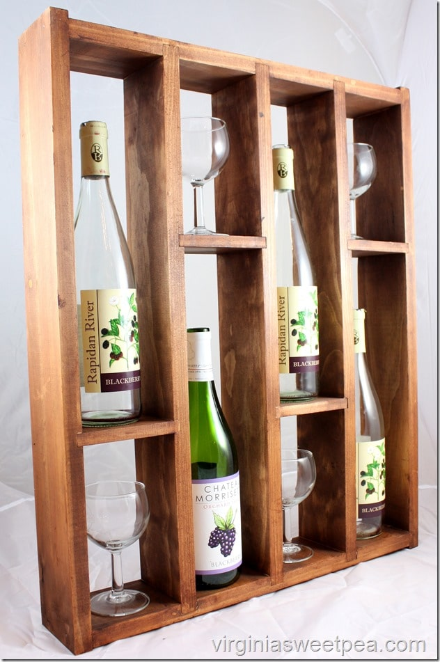 diy wine rack display your favorite wines sweet pea. Black Bedroom Furniture Sets. Home Design Ideas