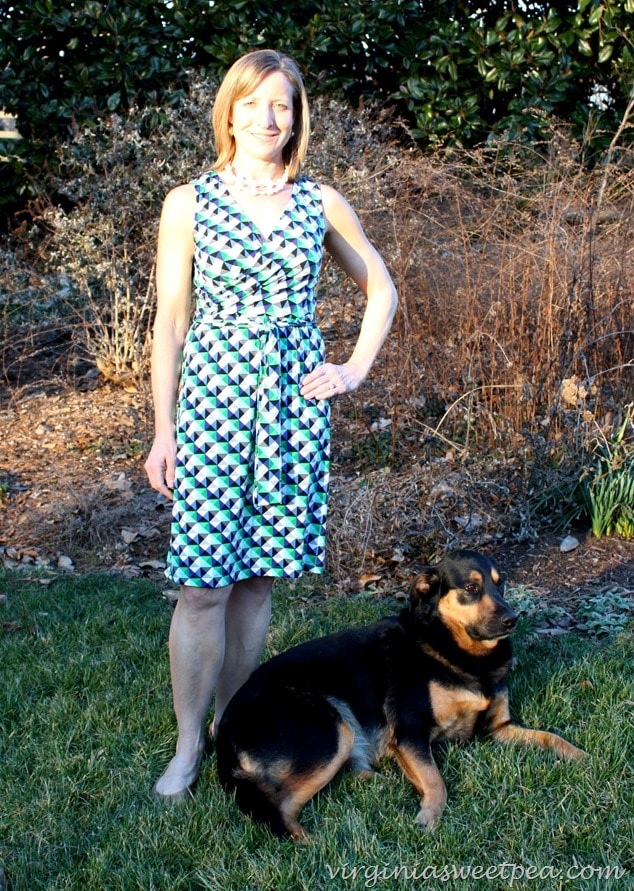 Stitch Fix Review for March 2016 - Donna Morgan Jade Jersey Vneck Dress with Sherman Skulina