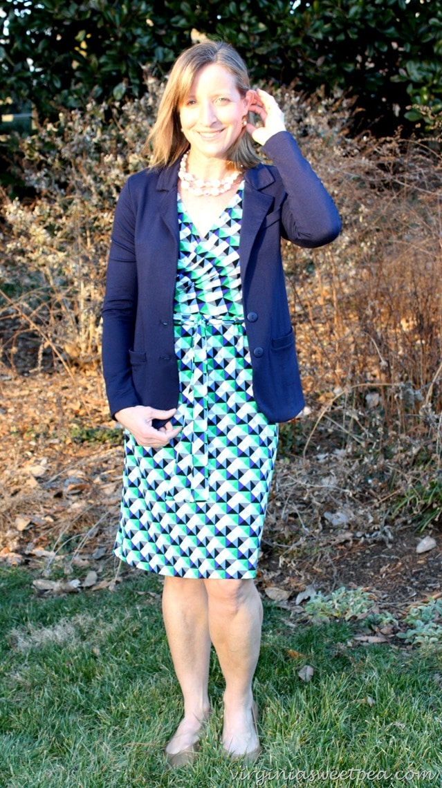 Stitch Fix Review for March 2016 - Donna Morgan Jade Jersey Vneck Dress