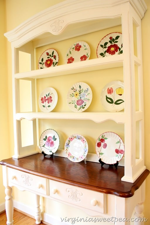 Blue Ridge Pottery in Farmhouse Style Hutch