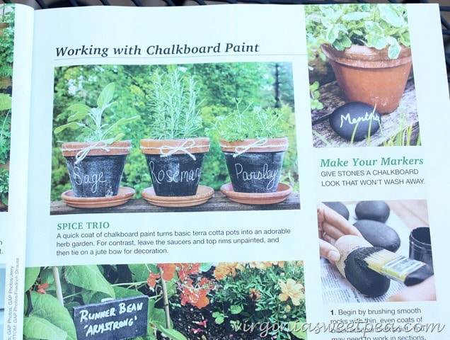 Chalkboard Painted Pots in Flea Market Outdoors Magazine