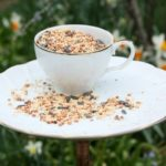 DIY Bird Feeder Using a Vintage Snack Set