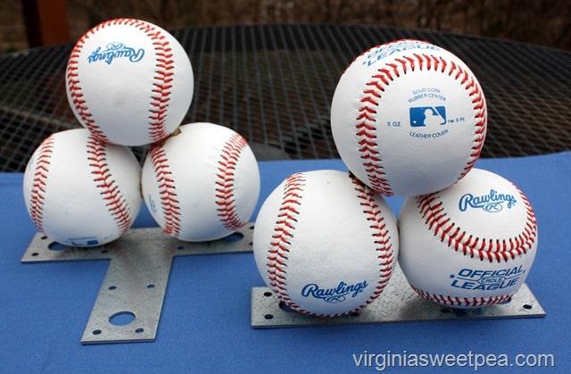 DIY Baseball Bookends - Sweet Pea