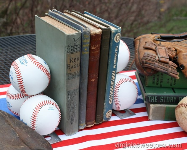 DIY Baseball Bookends - Learn how to make a set for your home. virginiasweetpea.com
