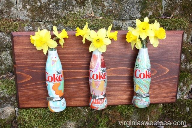Industrial Style Hanging Bottle Flower Holder