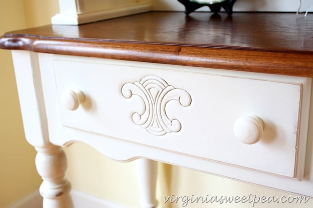 Farmhouse Style Hutch - Drawer Detail